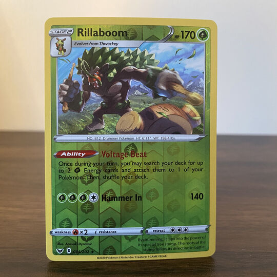 Rillaboom 014/202 Reverse Holo