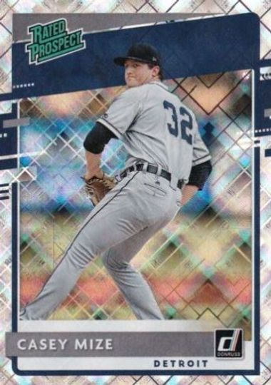 2020 Donruss Casey Mize Diamond Rated Prospect