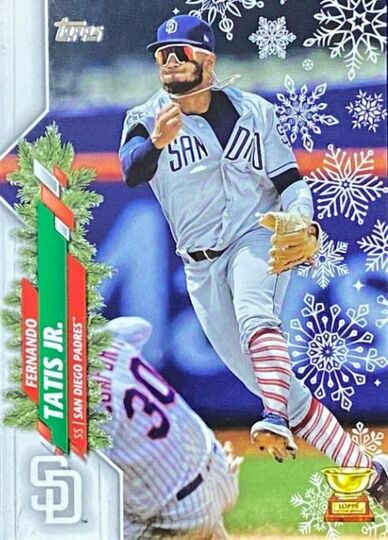 2020 Topps Holiday Fernando Tatis Jr. Socks SP