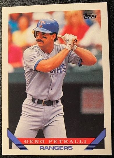 1993 Topps Rangers Geno Petralli 332