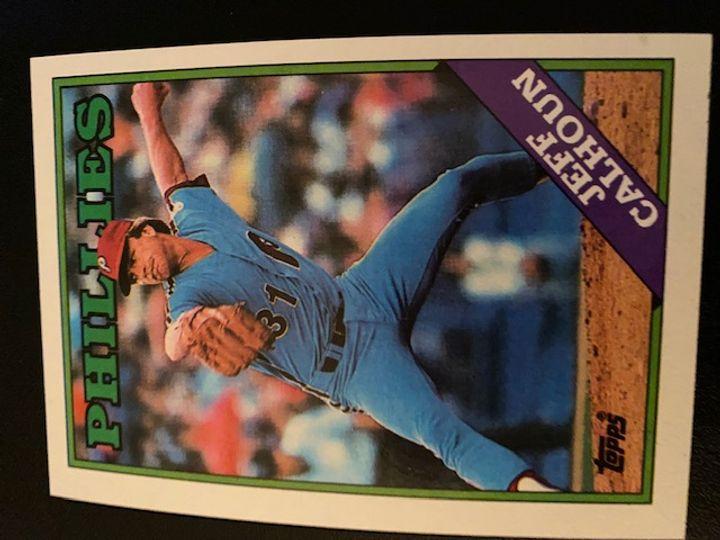 1988 Topps Phillies Jeff Calhoun 38