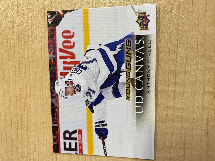 2017/18 Upper Deck Young Guns canvas, Denis Gurianov, card number C99