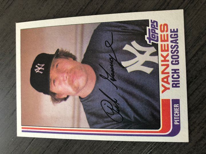 1982 TOPPS RICH GOSSAGE 770