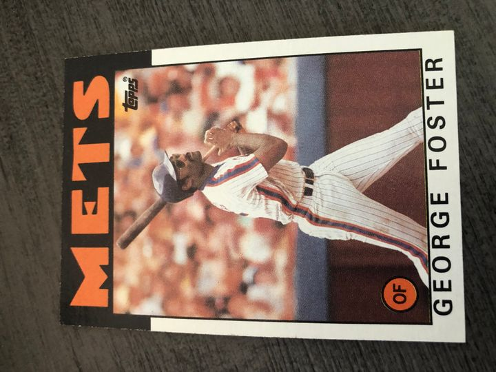 1986 TOPPS GEORGE FOSTER 680