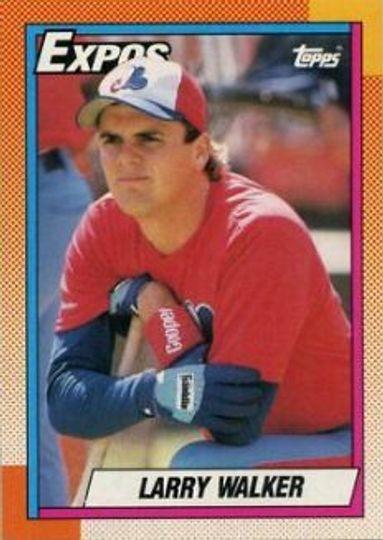 1990 Topps Larry Walker #757 Rookie