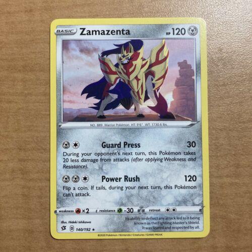 Zamazenta Rebel Clash x4 Card Playset Pokemon 140//192 Rare