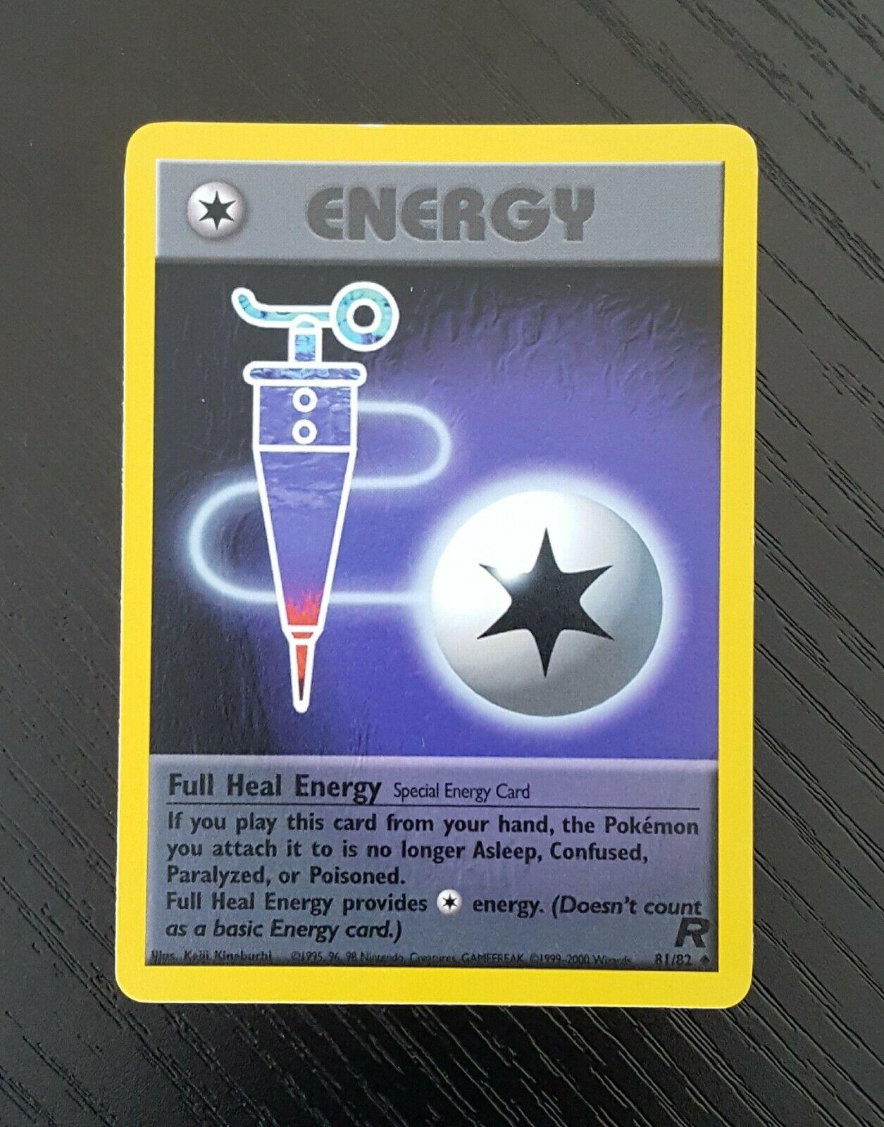 Pokemon 1st Edition Team Rocket Full Heal Energy Trainer NEAR MINT 81//82