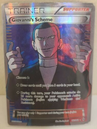 LP FULL ART Pokemon GIOVANNI/'S SCHEME Card BREAKTHROUGH Set//162 XY Ultra Rare