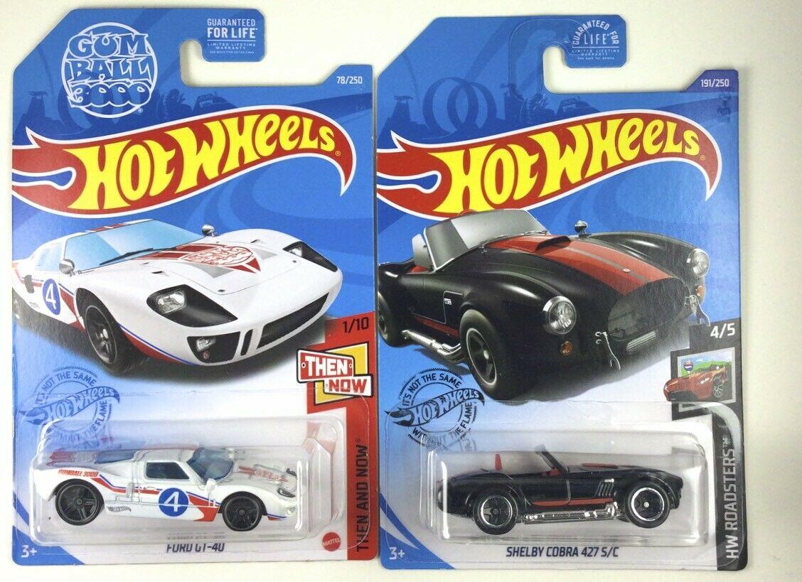 Ferrari GT-40 Gulf Racer /& Shelby Cobra 427 S//C  Black Hot Wheels 2020 Ford vs