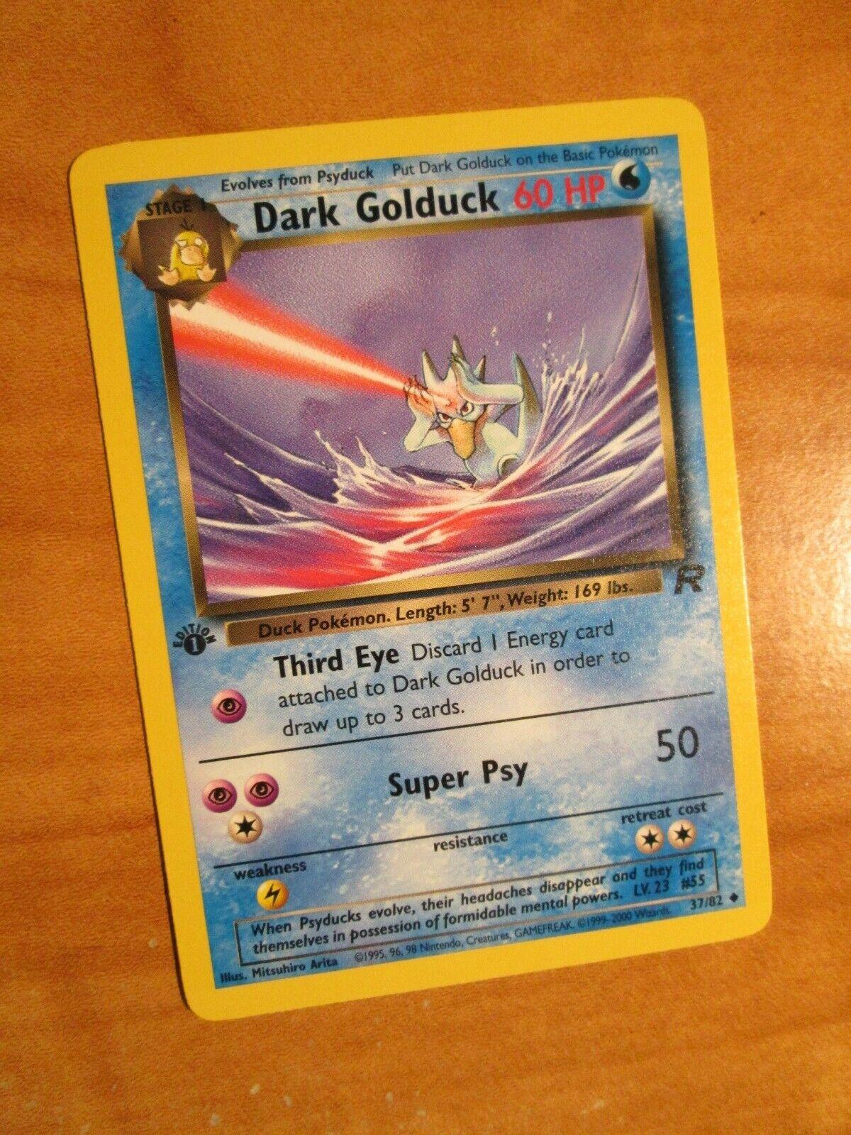 Details about  /Pokemon Dark Golduck Team Rocket 37//82 1st Edition