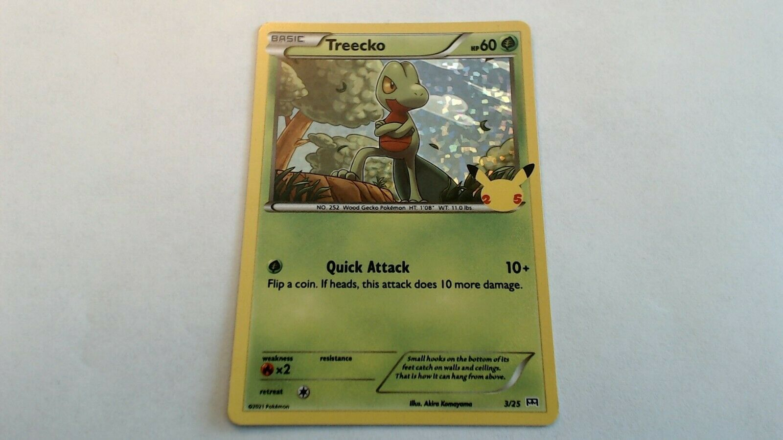 Pokemon Treecko HOLO 3/25 McDonald's 25th Anniversary NM