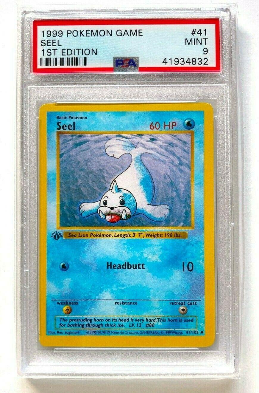 SEEL 1st Edition SPANISH Vintage ©1999 Base Set Pokemon 41//102 NEAR MINT Card