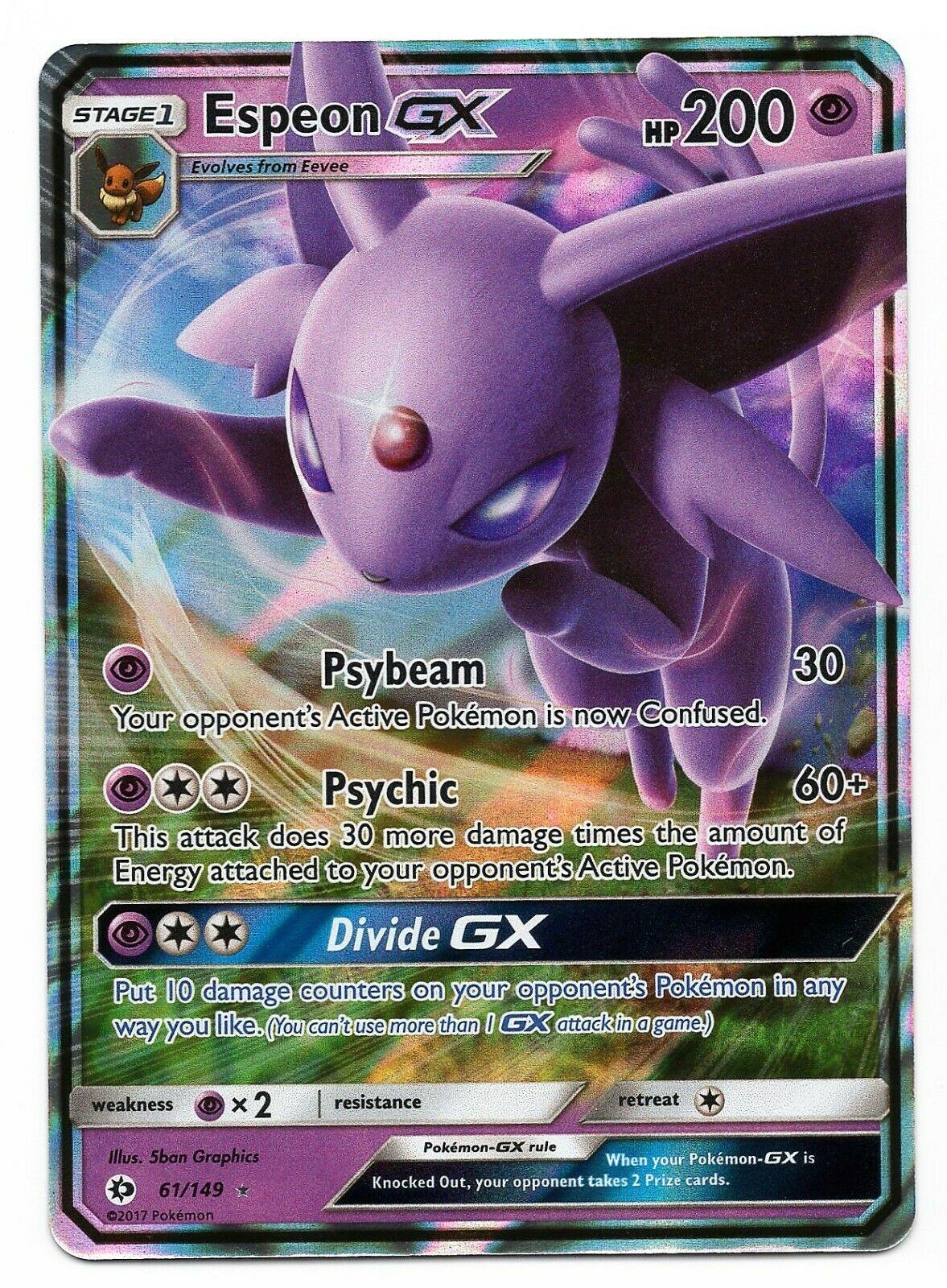 Pokemon Card Psiana GX 61//149 2017 Holo Mint