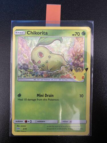 Pokemon Trading Card Game TCG McDonald's 25th Anniversary Chikorita Holo 2/25