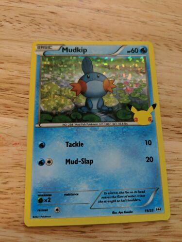 2021 McDonald's Pokemon Holographic Mudkip  card number 19/25
