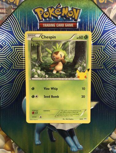 Chespin 6/25 | Pokemon TCG - 25th Anniversary Non-Holo Mcdonald's Promo