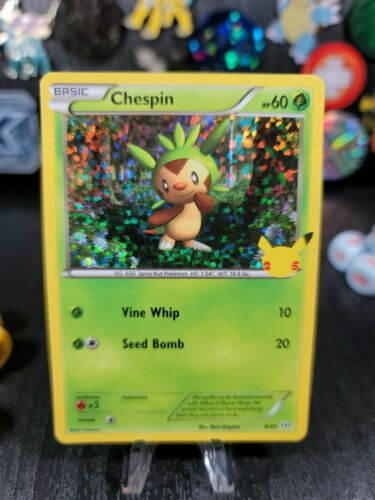 Pokemon 2021 McDonald's 25th Anniversary Promotion #6/25 Chespin Holographic