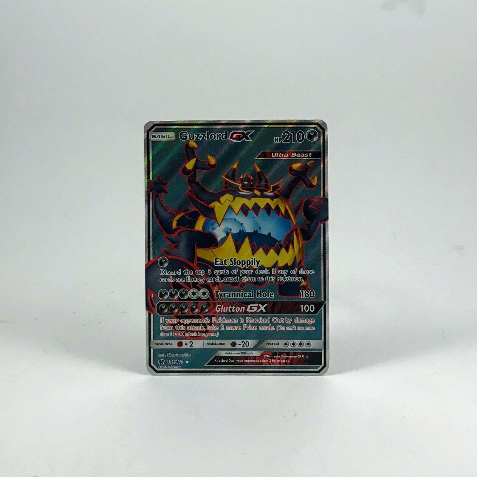 Full Art Ultra Rare NM Sun /& Moon Crimson Invasion Guzzlord GX 105//111