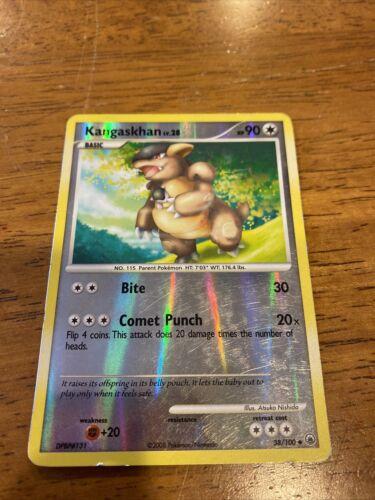 pokemon kangaskhan 38//100 uncommon majestic dawn 2008 light play