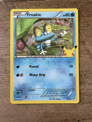 Froakie - 22/25 - Holo McDonald's 25th Anniversary Promos Pokemon Card NM