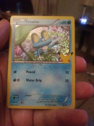 Pokemon McDonald's 25th Anniversary Froakie 22/25 Holo Promo Card 2021 Hologram