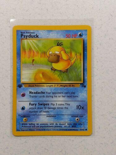 Fossil NM // LP Pokémon Psyduck 53//62 Unlimited
