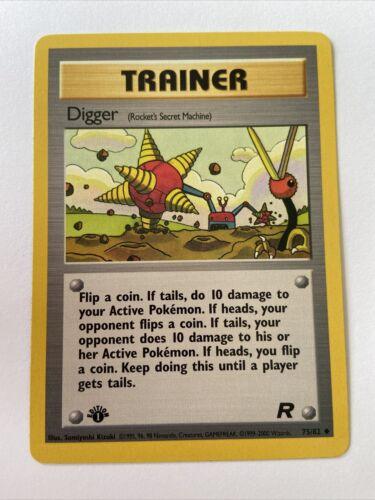 Pokemon 75//82 Digger Englisch Team Rocket Unlimitiert