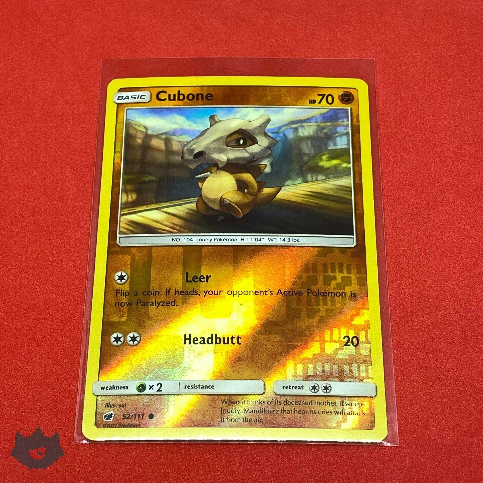 Cubone   52/111 Reverse Holo Foil Common Card Pokemon TCG S&M Crimson Invasion - Image 5
