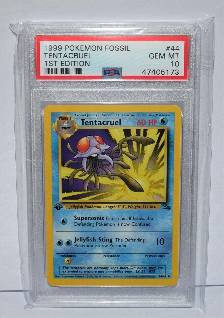 Uncommon 1st Edition new Fossil Pokemon Tentacruel 44//62