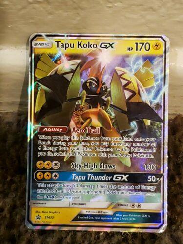 Tapu Koko GX SM33 Black Star Promo Pokemon Sun /& Moon *PACK FRESH FREE SHIP*