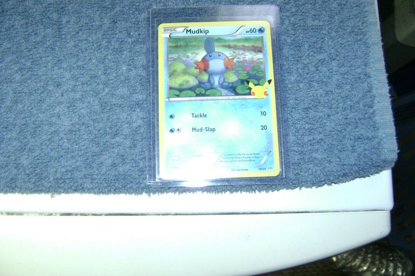 McDonald's 25th Anniversary Pokemon card # 19/25 Mudkip NON-HOLO  MINT