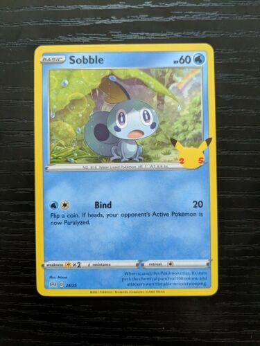 Sobble Holo 24/25 Mcdonald's Pokemon 25th Anniversary Promo NM