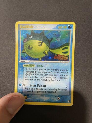 Qwilfish 27/109 Team Rocket Returns Rare Stamped Holo Pokemon TCG 2004 NM - Image 3