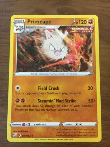 Primeape 067/163 Non-Holo Rare Pokemon Card Battle Styles
