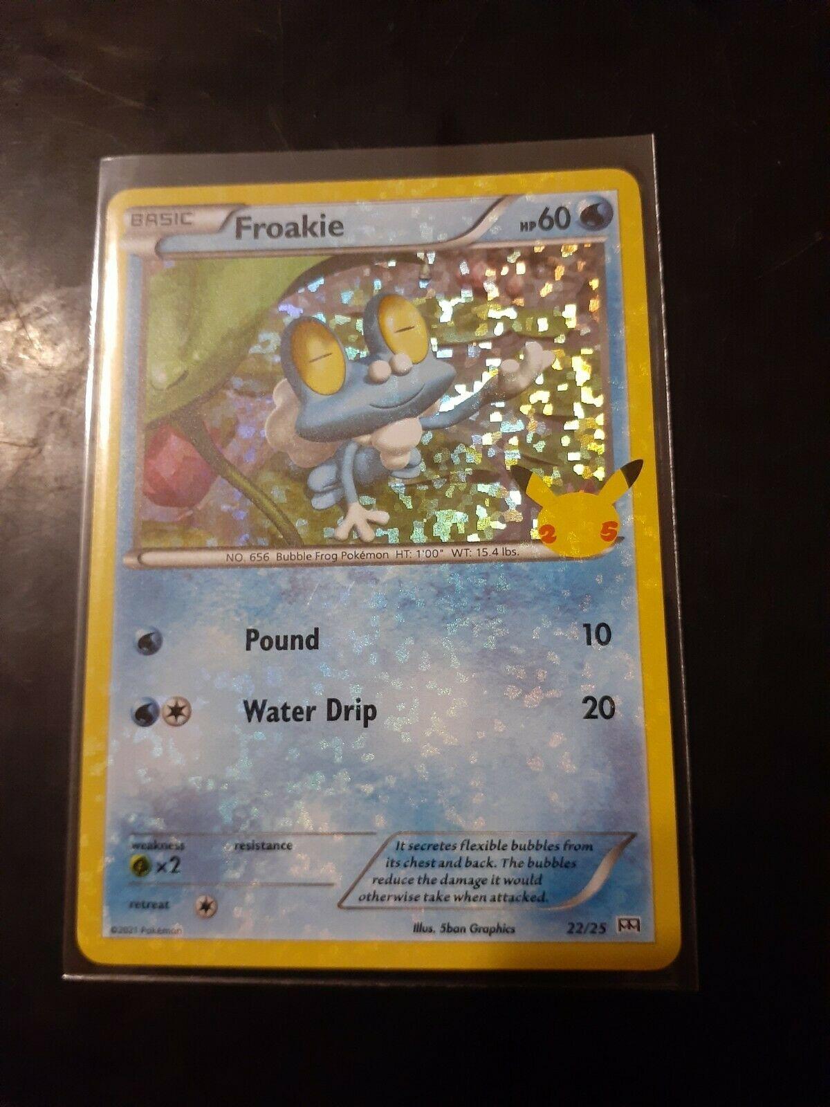 Pokemon McDonald's 25th Anniversary Froakie 22/25 HOLO Card 2021 *FREE SHIPPING*