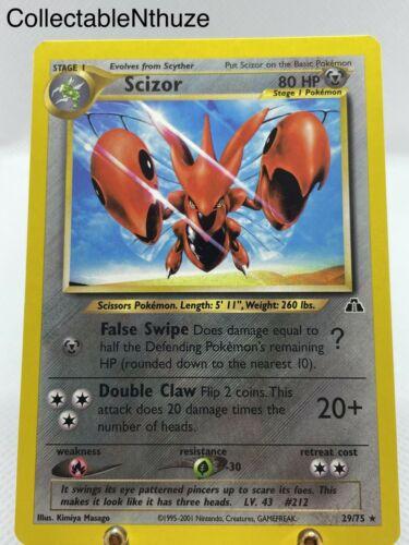 Pokémon Scizor Rare Non-holo Neo Discovery 29/75 Mint 🤤📈 - Image 2