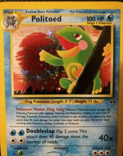Politoed 8/75 Neo Discovery Pokemon WOTC TCG Near Mint Holo Swirl - Crisp Beauty - Image 5