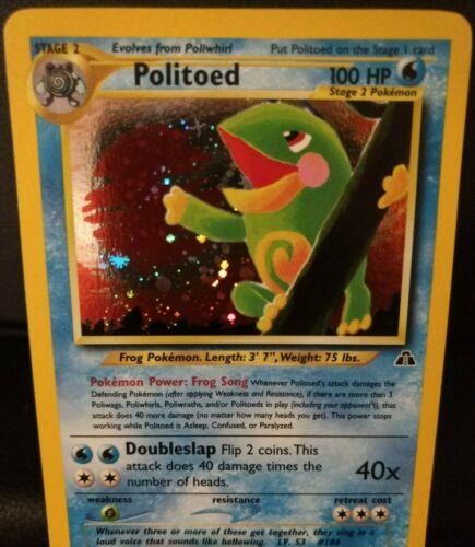 Politoed 8/75 Neo Discovery Pokemon WOTC TCG Near Mint Holo Swirl - Crisp Beauty - Image 7