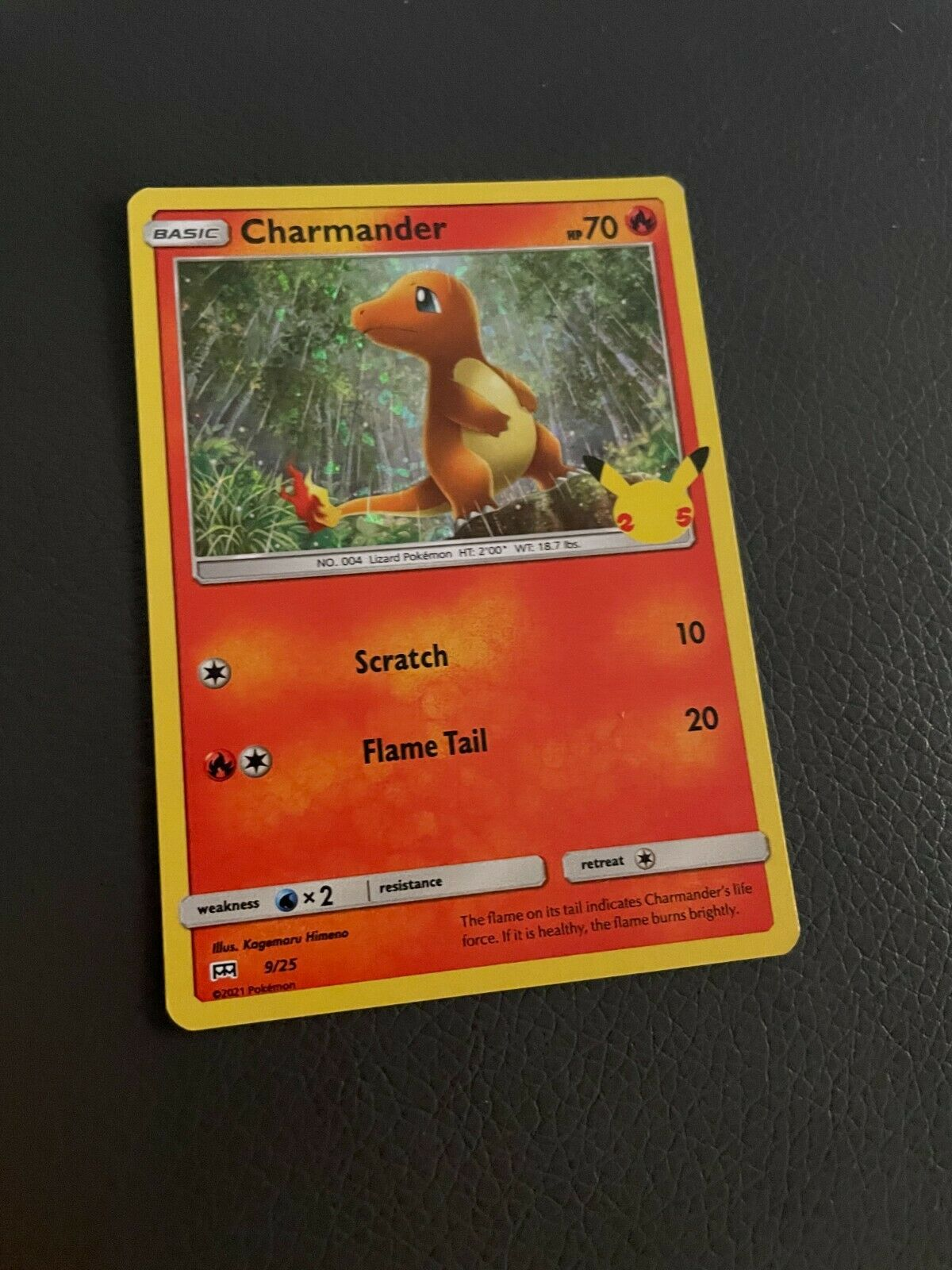 Pokemon Holo McDonald's 25th Anniversary Charmander 9/25