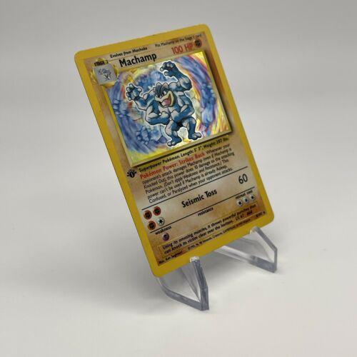1st Edition Machamp - Holo 8/102 - Vintage 1999 English Base Set Pokemon Card - Image 11
