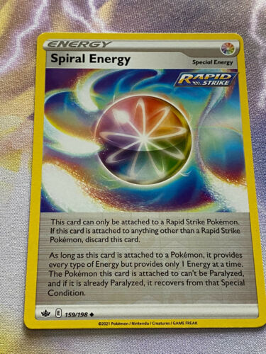 Pokemon Chilling Reign Spiral Energy Reverse Holo 159/198 In Hand