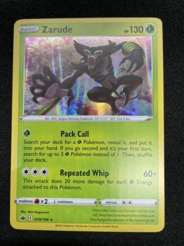 Zarude 019/198 Holo Rare Chilling Reign Pokemon Card