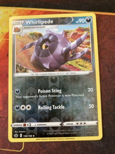 Whirlipede 106/198 NM Pokemon TCG Chilling reign reverse holo
