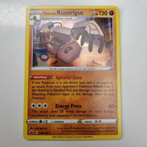 Galarian Runerigus Holo Rare Chilling Reign 083/198 Pokemon Card