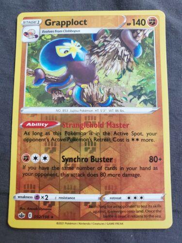 Grapploct 092/198 Reverse Holo Chilling Reign Pokemon Card NM/M