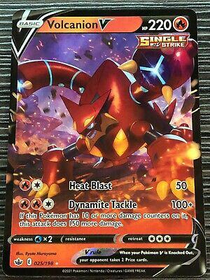 Pokemon : SWSH CHILLING REIGN VOLCANION V 025/198 ULTRA RARE