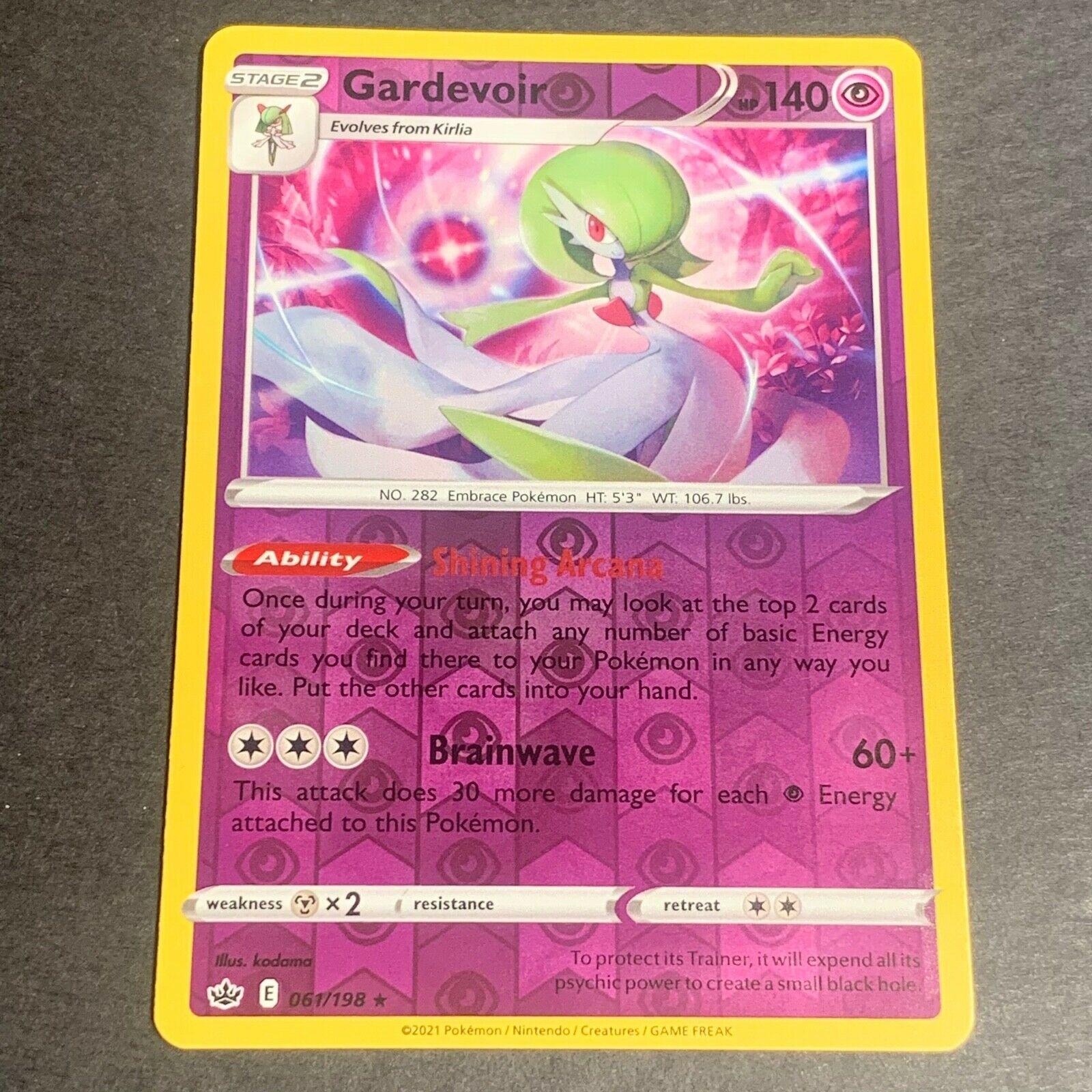 Pokemon S&S Chilling Reign Set REVERSE HOLO (R.) Gardevoir 061/198 - Near Mint