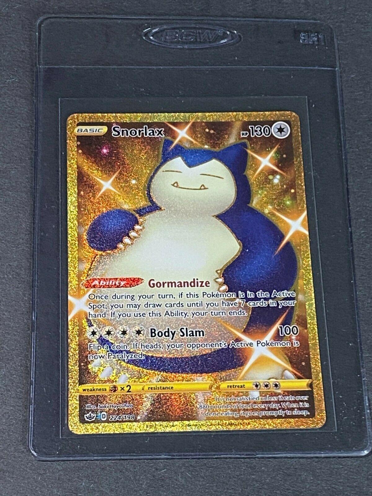 Snorlax 224/198 Gold Secret Rare FULL ART CHILLING REIGN POKEMON TCG