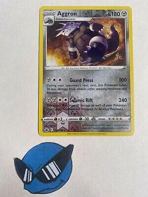 Pokemon TCG : Aggron 111/198 Reverse Holo Chilling Reign  - Image 1