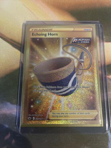 Echoing Horn Secret Rare Gold - 225/198 Pokemon Chilling Reign — In Hand